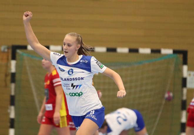 Anna Heed var matchens bästa målskytt med sina 9 mål.