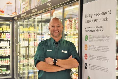 Mickey Dahl, butikschef på Coop Tyresö