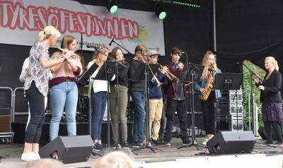 Kulturskolan uppträdde under festivalen