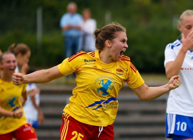 Sofie Thörnqvist gjorde Tyresös enda och matchens underligaste mål i matchen