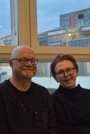 <span>Björn Taubert och Katrin Randviir, en del av arbetsgruppen bakom den nya vårdcentralen.</span><div><span></span></div>