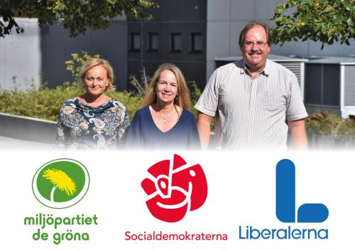 Marie Åkesdotter (MP), Anita Mattsson (S) och Mats Lindblom (L) har tillsammans styrt Tyresö kommun i snart ett år.