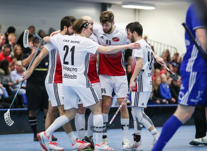 Oliver Forsberg firar sitt snygga mål