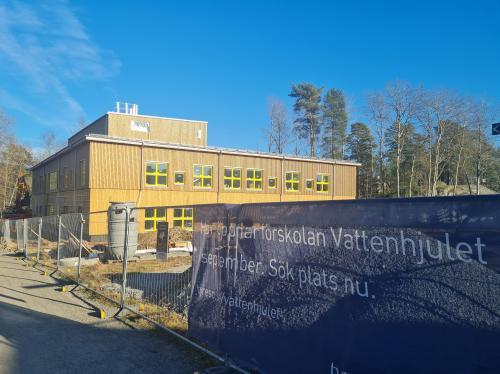 Nu byggs förskolan Vattenhjulet i Fårdala
