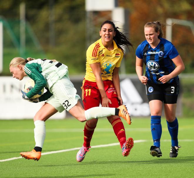 Isabelle Granlund höll Täby kvar i matchen till slutminuterna.