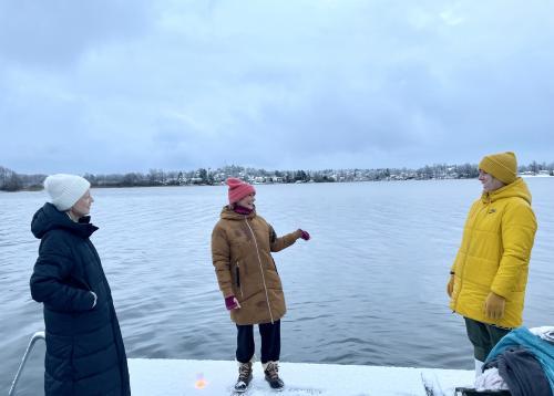 Snart dags för ett dopp i Drevviken.