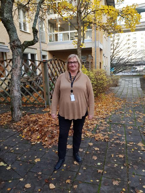 Linda Wahlund är covidsamordnare på Björkbacken