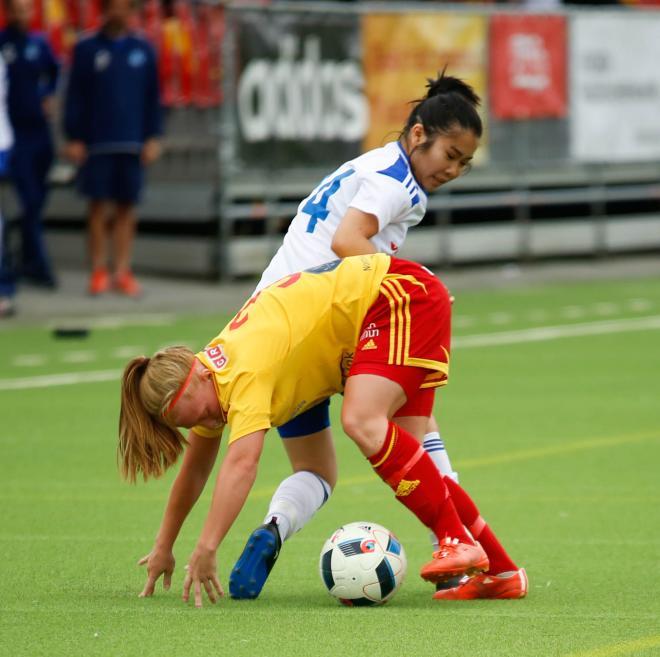 Josefine Lindberg hade en svår motståndare i Amanda Falk