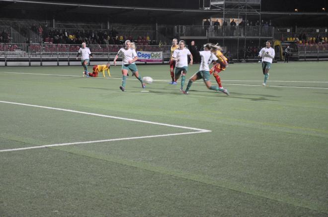 Frida Thörnqvist avslutar och avgör matchen.