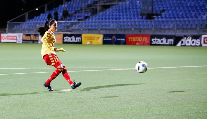 Lawlaw Nazeri satte två mål på Djurgården