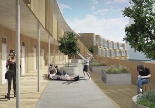 Visionsbild över de nya bostäderna