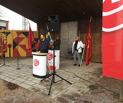 Mathias Tegnér talade om poltiska vägval ur ett nationellt perspektiv