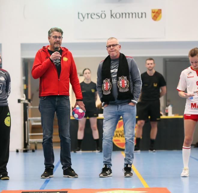 Ordförande Stefan Gimmerborn hade finfrämmande i form av fotbollens förbundskapten Janne Andersson.