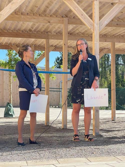 Jannice Rockstroh (S) barn och utbildningsnämndens ordförande lyfte vikten av att lyssna på professionen när hon talade vid invigningen