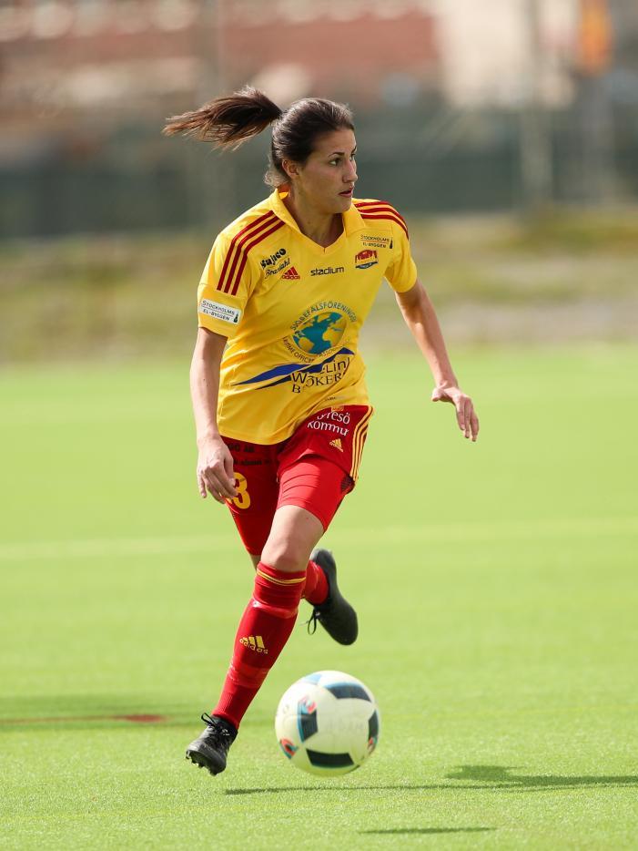 Victoria Isaksson var tillbaka i laget<br />Foto: Claus Meyer