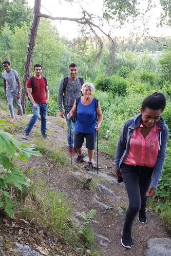 På vanding i Tyresöskogen