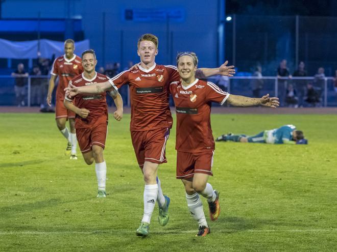 Lucas Jonzon gjorde återigen mål mot Spårvägen. Bilden är från onsdagens match mot Järna