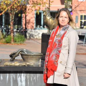 Anita Mattsson (S) på Strandtorget