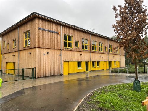 Förskolan Vattenhjulet i Fårdala är helt byggd i trä