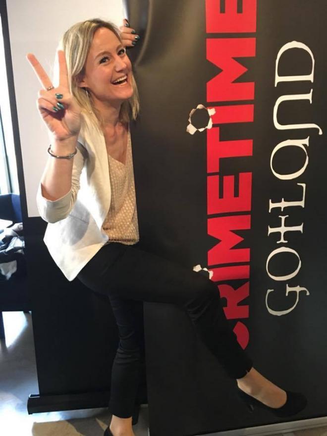 Anna Bågstam Ryltenius är exalterad över att vara på Gotland.