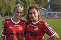 Madeleine Almlöf och Nicole Tabari såg till att HSK hänger med i toppen